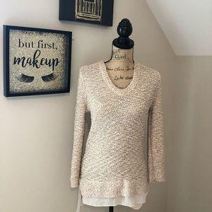 Ann Taylor Loft sequined tunic